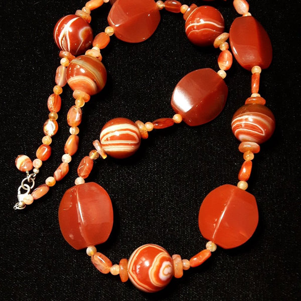 Carnelien & Silver Necklace - Leila Haikonen Jewellery - 1