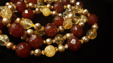 Carnelian & Citrine, Pearl Silver Necklace - Leila Haikonen Jewellery - 5