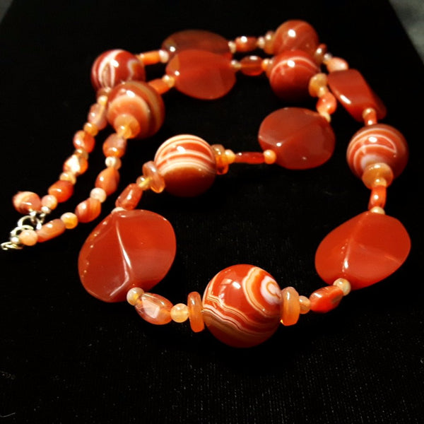 Carnelien & Silver Necklace - Leila Haikonen Jewellery - 6