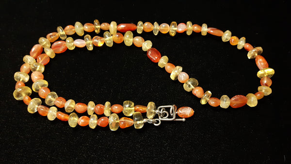 Carnelian & Citrine, Silver Necklace - Leila Haikonen Jewellery - 3