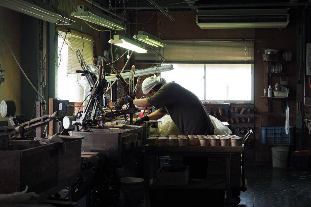 Craftsman working in Nankei Pottery