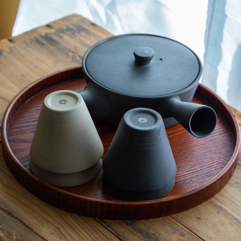 Sencha320 Kyusu/Tea Pot (Matte Black)