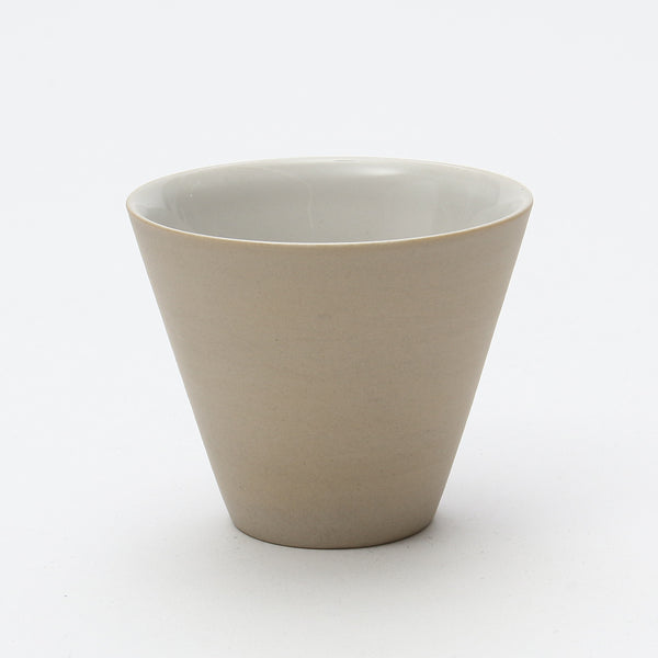 Cone Small Yunomi/Tea Cup (Matte Cream White)