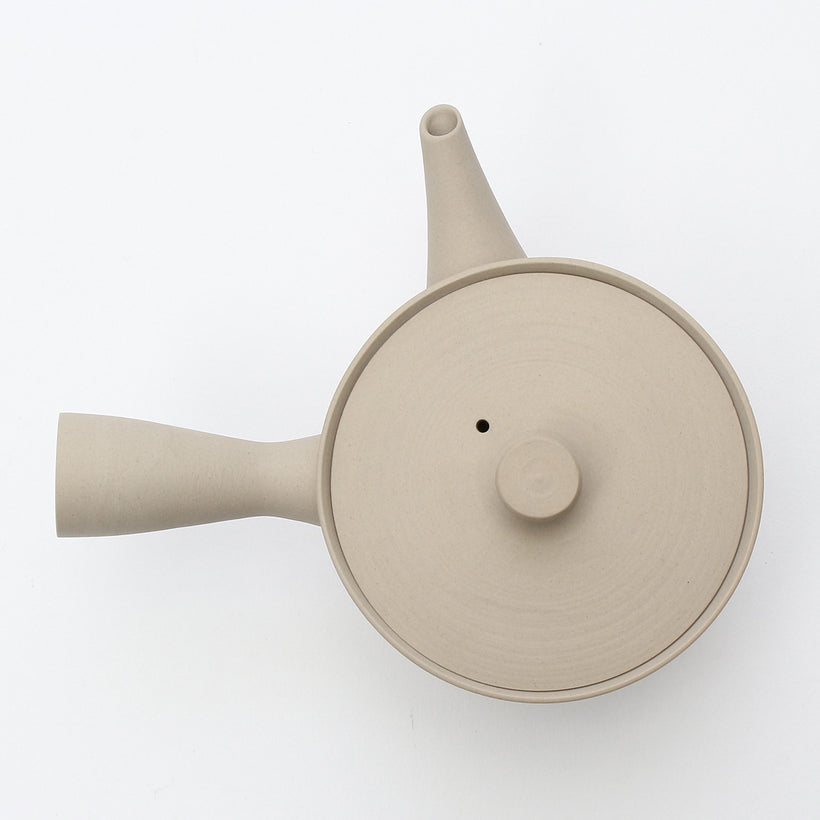 Sencha150 Kyusu/Tea Pot (Matte Cream White)