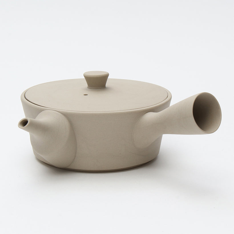 Sencha320 Kyusu/Tea Pot (Matte Cream White)