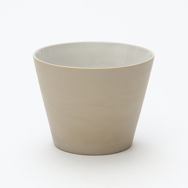 Cone Yunomi/Tea Cup (Matte Cream White)