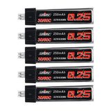 5Pcs URUAV 3.7V 250mAh 30C/60C 1S Lipo Battery PH2.0 for Blade Nano QX CPX Tiny Whoop TINY6 6X