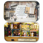 Cuteroom Old Times Trilogy DIY Box Theatre Dollhouse Miniature Tin Box With LED Decor Gift