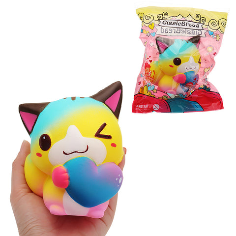 GiggleBread Cat Squishy 12*9.5*7.5cm Slow Rising With Packaging Valentine's Day Gift Soft Toy