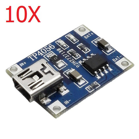 10X TP4056 1A Lipo Battery Charging Board Charger Module Mini USB Interface