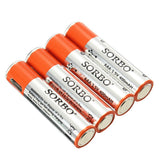 4PCS SORBO 1.5V 400mAh Rechargeable AAA Lipo Battery with 4 In 1 Charger Cable