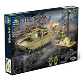 Kazi Tank Team Building Block Sets Toy Educational Gift Fidget Toys #84044 296 Push Pcs