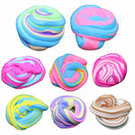 60ml Cotton Mud DIY Stress Relief Magic Fluffy Slime Scented No Borax Kids Toy Sludge Cotton Mud