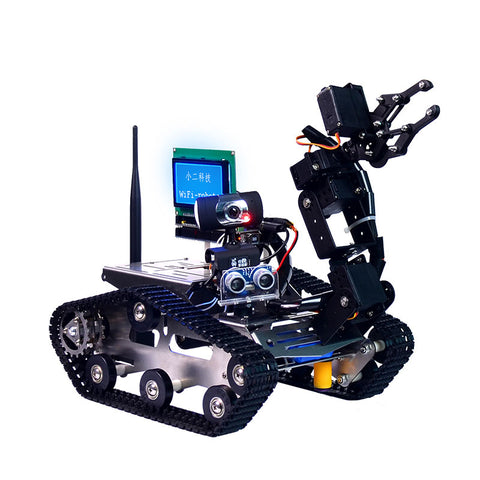 Xiao R DIY WiFi Video Control Smart Robot Tank Car with Display Screen for Arduino 2560