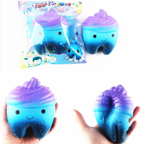 Sanqi Elan 11.8cm Star Cute Teeth Cake Soft Squishy Super Slow Rising Original Packing Kid Toy