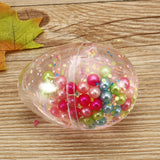 Slime Pearl Ball Simulated Egg Shape Bottle Crystal Mud Collection Stress Reliever Gift Decor Toy