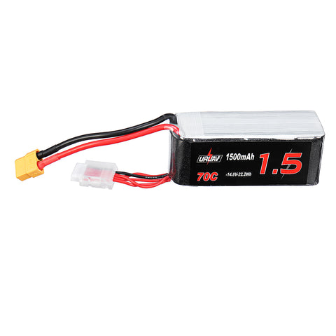 URUAV 14.8V 1500mAh 70C 4S Lipo Battery XT60 Plug for Eachine Tyro99 FPV Racer RC Drone