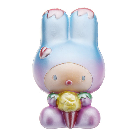 Long Eared Rabbit Squishy 14.6*9CM Slow Rising Toy Soft Gift Collection