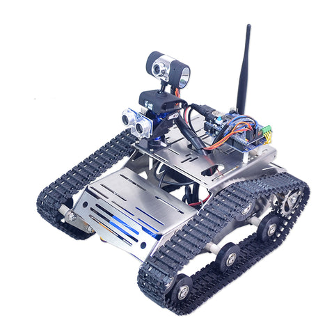 Xiao R DIY WiFi Video Smart Robot Tank Car For Arduino UNO R3 with Camera PTZ