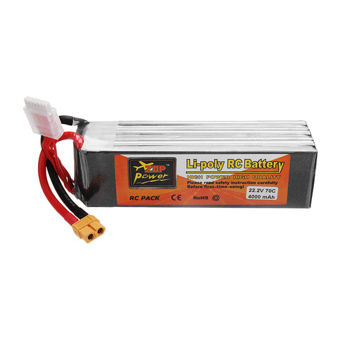 ZOP POWER 22.2V 4000mAh 70C 6S Lipo Battery With XT60 Plug