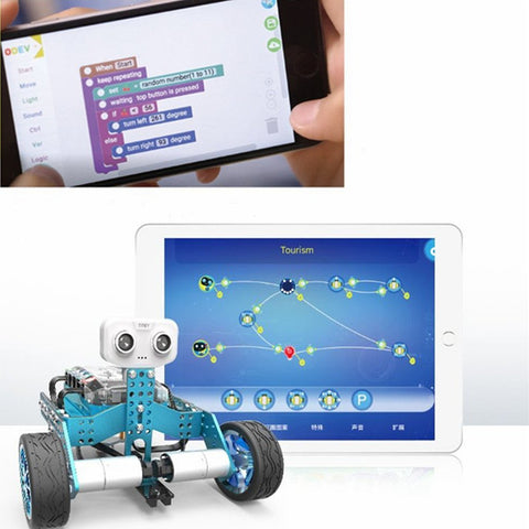 ODEV Tomo STEM Car 2-in-1 Science Toy Transformable Programmable APP Controlled DIY Vehicle Kit