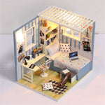 iiecreate M-008 Barbatello House DIY Doll House With Furniture Light Cover Gift Toy