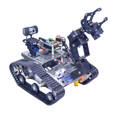 Xiao R WiFi Video Robot Arm Car with Gimbal Camera Raspberry Pi 3B+ Built-in Bluetooth Wifi Module