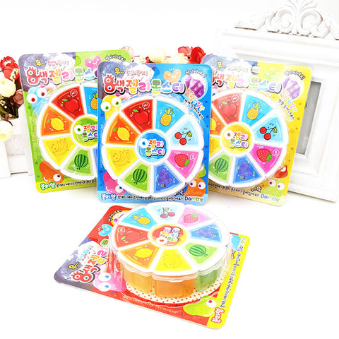 3D Fruit Slime 8 Colors DIY Crystal Jelly Clay Rubber Mud Intelligent Hand Gum Plasticine Toy Gift