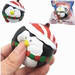 SquishyFun Squishy Penguin Snowman Christmas 7cm Slow Rising With Packaging Collection Gift Decor
