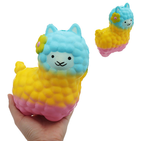 Colorful Alpacas Squishy 18*14CM Slow Rising Collection Gift Soft Toy
