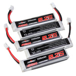 10Pcs URUAV 3.8V 250mAh 40C/80C 1S Lipo Battery PH2.0 for Eachine US65 UK65 URUAV UR65 Mobula7