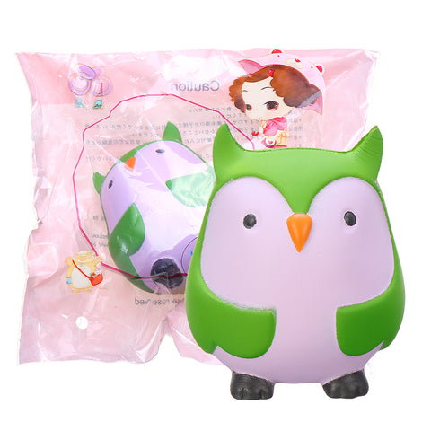 9cm Soft Squishy Blue Owl Scented Slow Rising Toy With Packaging Stress Relief