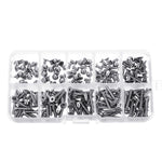 200Pcs M3 304 Stainless Steel DIN7991 Flat Head Screw Countersunk Hex Socket Cap Bolt for RC Model