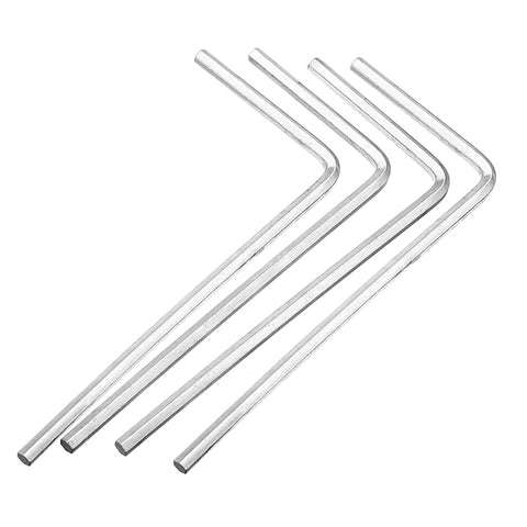 4Pcs 4mm Metal Silver Hex Key Hex Wrench for M5 M6 Hex Screw