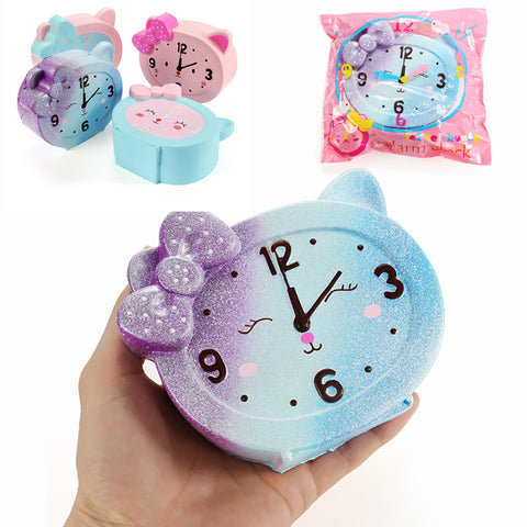 LeiLei Squishy Alarm Clock 10cm Slow Rising Original Packaging Collection Gift Decor Soft Toy