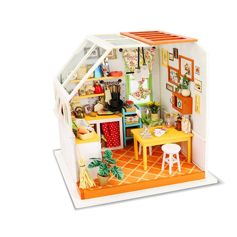 Robotime DG105 DIY Doll House Miniature With Furniture Wooden Dollhouses Toy Decor Craft Gift