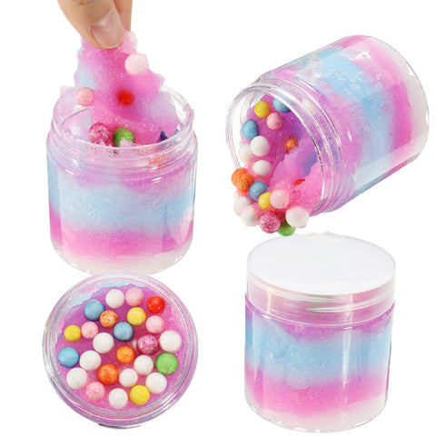 120ML Slime Plasticine Ice Cream Crystal Mud DIY Gift Toy Stress Reliever