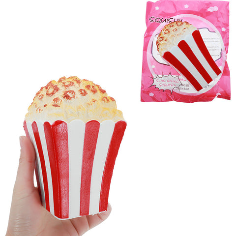 Squishy Popcorn 15CM Slow Rising Squeeze Toy Stress Reliever Decor Phone Strap Gift With Packaging