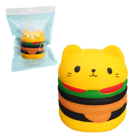 Squishy Cat Burger 10cm Hamburger Soft Slow Rising 10s With Packaging Collection Gift Decor Toy