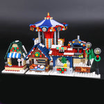 Christmas Merry Go Around Building Block Toys Educational Children Kids Gift 1412Pcs