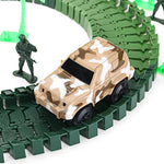 96PCS DIY Assembling Building Army Track Electric Car Orbit Series Kids Children Christmas Gift Toys