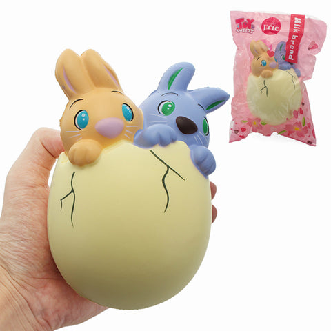 Eric Squishy Rabbit Bunny Twins Egg 15cm Slow Rising Original Packaging Collection Gift Decor Toy