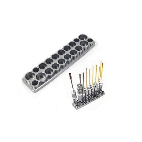 20 Holes Hexagon Socket Model Tool Holder Screwdriver Storage Case