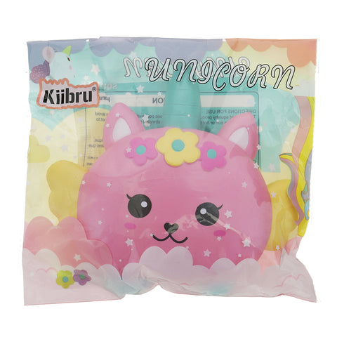 Kiibru Unicorn Burger Squishy 17x16.5x2.5CM Licensed Slow Rising Soft Animal Collection Gift With Packaging