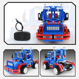 QIZHILE DIY 6501 RC Self-assembled Building Block Car Included Battery 3 Model For Kids  Children Gift