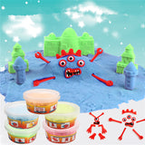 Magic Children DIY Space Sand Kids Play Handmade Colorful Clay Mud Toys w/Mold