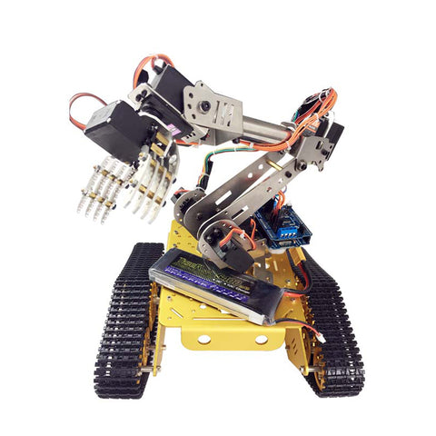 DoArm S7 7 DOF Robot Tank Car Chassis With Metal Robotic Manipulator Arm Claw For Arduino