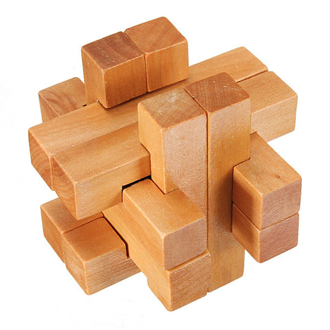 Vintage 3D YX835 Wooden Brain Teaser Puzzle Game Toy
