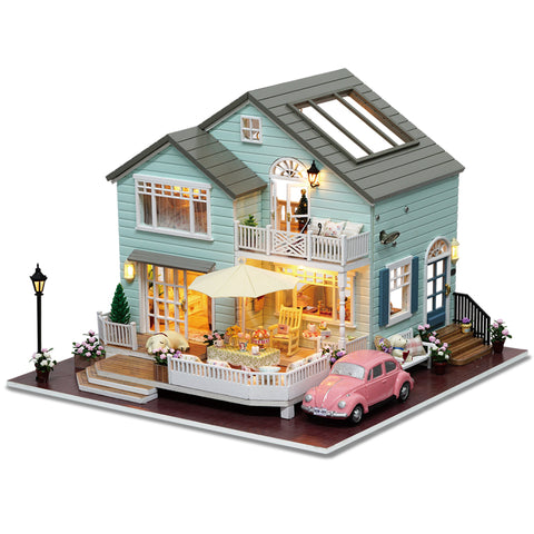 CuteRoom A-035-A Queens Town DIY Dollhouse Miniature Model With Light Music Collection Gift