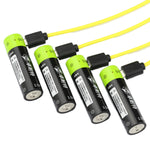 ZNTER 1.5V 1250mAh USB Rechargeable  AA Li-Po Battery
